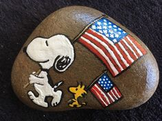 Of July Red, White And Blue 3 Unique Hand Painted Original Rock Stone Art Flag Painting, Pebble Painting, Pebble Art, Stone Painting, Painted River Rocks, Painted Stones, Rock Painting Patterns, Rock Design, Snoopy And Woodstock