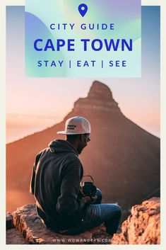 A complete guide to visiting Cape Town, South Africa including things to do (from Table Mountain to Lions Head), top restaurants and food, why you should stay in an Airbnb instead of a hotel and photography inspiration for your trip! Bucket list travel in Africa. | Wowanders Travel App #Travel #TravelTips #TravelGuide #CityGuide #Wanderlust #BucketList #TravelApp #Wowanders #CapeTown #SouthAfrica #LionsHead #TableMountain