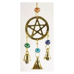 Three Bell Pentagram wind chime                                                                                          H558-FW514