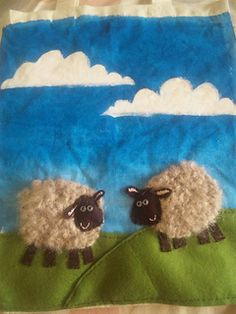 As well as crochet, the construction of this cute cotton bag includes painting, sewing, and a little embroidery. Crochet Sheep, Crochet Animals, Crochet Toys, Crochet For Kids, Crochet Children, Eid Crafts, Crochet Embellishments, Sheep And Lamb, Pony Beads