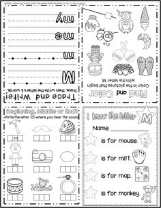 FREE sample of my foldable alphabet activity books! 2 books included.