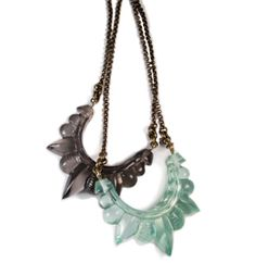 Pamela Love. Tribal spike necklace. Never seen something quite like this before.. Very cool!