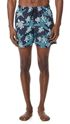 5b6b172d55e42 Vilebrequin starlettes & turtles trunks in bleu marine; theory willem  cosmos polo shirt in white; vince men's west coast pool slide sandals in  black; ...