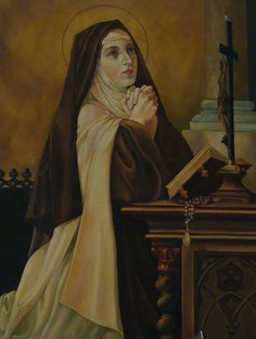 """""""We must have a determined determination to never give up prayer. Teresa of Avila Catholic Religion, Catholic Quotes, Catholic Art, Catholic Saints, Roman Catholic, Sainte Therese, St Therese, Religious Icons, Religious Art"""