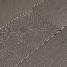 """Show details for Bausen English Forest European Oak Glenmore- 7-1/2"""", gray floor, European Oak, oil look floor, wide plank floor, wirebrushed floor, flooring ideas, hardwood floor"""