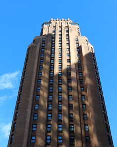 Erected in the late 1920s, the Beekman Tower was the product of a Women's Rights Movement. The Art Deco building was built by the New York chapter of the Panhellenic Association as a clubhouse and residence for professional women. #MyManhattan #ArtDeco #Architecture #NewYork #GeorgJensen #Inspiration