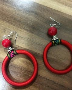women concept - ☀summer simple style large gemstone red pomegranate color 💗 embroidery circle earrings(approx:diameter is available at Department Golden Pineapple 💁 Please PM/emails us for further info📦🎁📦📦🎁📦(forest Circle Earrings, Drop Earrings, Bohemian Style, Boho Gypsy, Beauty Shop, Simple Style, Pineapple, Frankfurt, Munich