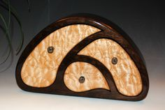Quilted Maple on Cherry Handcrafted Wooden TriOval Jewelry Box