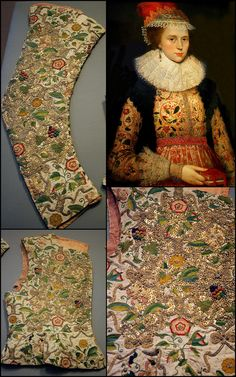 https://flic.kr/p/6mKh9E | Margaret Layton and her embroidered jacket 1600 | Victoria and Albert Museum - British Galleries