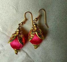 earrings Silk Thread Jhumkas, Silk Thread Necklace, Silk Thread Bangles, Thread Jewellery, Tassel Jewelry, Bead Earrings, Tassel Earrings, Silk Art, Jewelry Making Tutorials