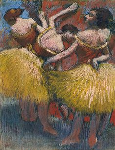 Edgar Degas (1834-1917), Trois danseuses, pastel on joined paper laid down on board, circa 1900