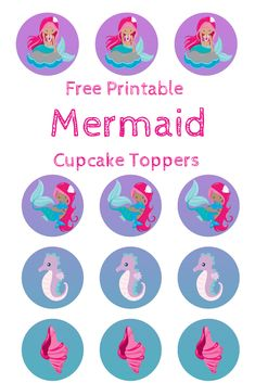 photo relating to Printable Mermaid named 31 Ideal No cost Mermaid Occasion Printables pics within just 2018 Occasion