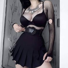 Best Edgy Outfits Part 4 Gothic Outfits, Edgy Outfits, Grunge Outfits, Cool Outfits, Fashion Outfits, Dark Fashion, Grunge Fashion, Gothic Fashion, Emo Fashion