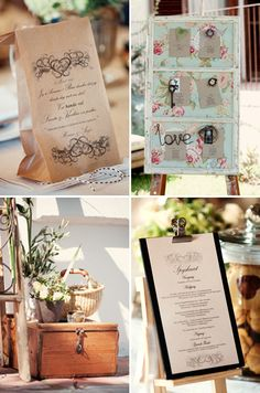 Vintage wedding stationery for a farm wedding. Stationery: Green Wedding. Photo: Desmond Louw