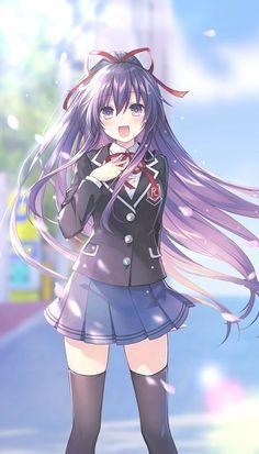 Date A Live Tohka Yatogami Date A Live, Pretty Anime Girl, Kawaii Anime Girl, Anime Art Girl, Anime Girls, Fille Anime Cool, Fille Gangsta, Anime Date, Chibi