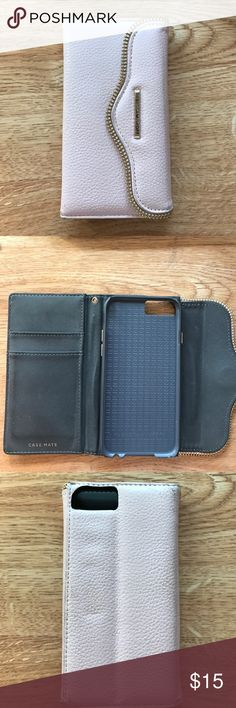 Rebecca minkoff iPhone 6 case Light pink iPhone 6/6s Rebecca minkoff leather phone case with ID slots Rebecca Minkoff Accessories Phone Cases