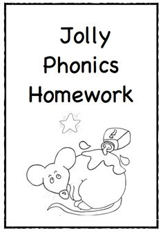 Jolly Phonics homework - A great resource to use with your homework packs!!  12 pages