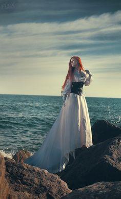 Seascape costume portrait, beautiful!