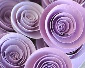 Paper Flowers Lavender Paper Flowers Wedding Table Decorations 25 flowers