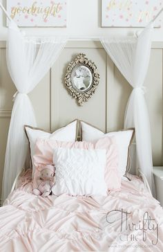 Take away some of the younger stuff and I'd love this! The pale pink, the romantic theme...so pretty!