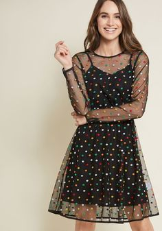Dazzle Do It Dotted Dress