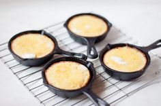 Cornbread in a black iron skillet..mmm