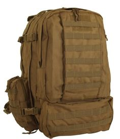 Voodoo Tactical Tobago Cargo Pack  Backpack  Hydration Compatible  Coyote Brown  Tan  157866 ** Details can be found by clicking on the image.