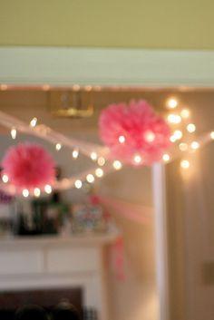 Pom Poms & Twinkle Lights
