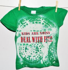 Tie and Dye bleached TShirt for kids by LuchiKids on Etsy, Bleach T Shirts, Stencil, V Neck, Tie, Craft, Trending Outfits, Vintage, Design, Women