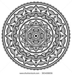 Circular pattern in form of mandala for Henna, Mehndi, tattoo, decoration. Decorative ornament in ethnic oriental style. Coloring book page. Mandala Art, Mandala Drawing, Mandala Design, Henna Mehndi, Henna Tatoo, Madhubani Art, Madhubani Painting, Zentangle, Circular Pattern