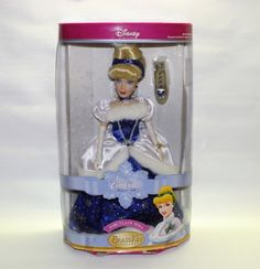 Porcelain Doll: Brass Key Snowflake Cinderella Procelain Keepsake Doll 2004 by Disney ** Details can be found by clicking on the image. Snow Globes, Snowflakes, Cinderella, Brass, Porcelain Doll, Dolls, Disney, Key, Princess