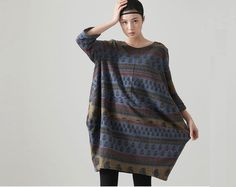 Casual Long Sleeved T-shirt Blouse Tops for Autumn and Spring - Blue- Women Clothing