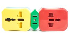 Flight 001's power adapter features four color-coded plugs that make it easy to use your electronics in over 150 countries. See which works where with their handy interactive Adapter Map.