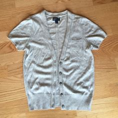 Grey short sleeve cardigan Lightweight short sleeve cardigan. Worn once or twice. American Eagle Outfitters Sweaters Cardigans