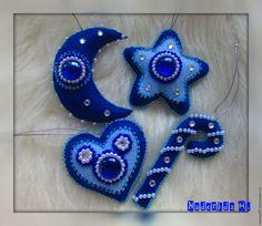 Купить Ёлочное украшение из фетра в интернет магазине на Ярмарке Мастеров