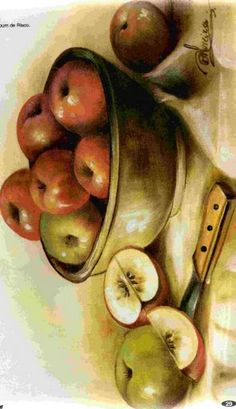 Apple Painting, Ceramic Painting, Fabric Painting, Easy Paintings, Animal Paintings, Antique Pictures, Pastel Watercolor, One Stroke Painting, Country Paintings