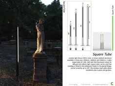 Viabizzuno Square Tube Exterior Light by Cirrus Archictectural Lighting