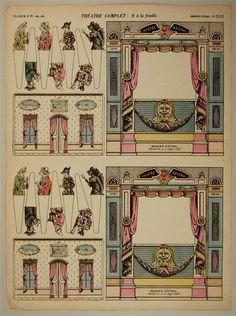 Théâtre Complet: 2 à la feuille. Imagerie d'Épinal. No. 1510.