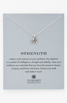 Dogeared 'Reminder - Strength' Boxed Pendant Necklace available at #Nordstrom