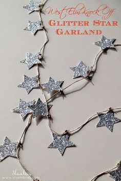 This garland will take an hour or less and be less than a quarter of the price!  Perfect for Christmas and Winter decor! Knock off Decor #DIY Knock Off Pottery Barn