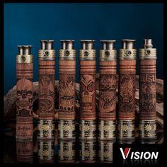 Batterie X Fire E-Fire Vision. Batterie en bois avec différents motifs...