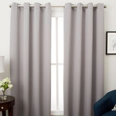 Ultimate Blackout Grommet Top Panel is woven in 3 layers, a tight weave of colored yarns on the front/back, sandwiched around an inner layer of black yarns. Diy Blackout Curtains, Blackout Panels, Yarns, Weave, Layers, Top, Grey, Home Decor, Products