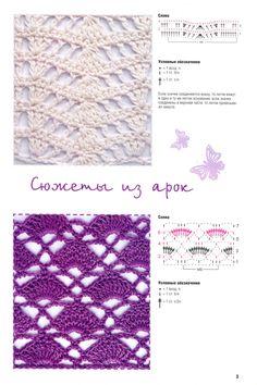 Crochet stitch by jane Crochet Stitches Chart, Crochet Motifs, Crochet Diagram, Stitch Patterns, Knitting Patterns, Crochet Patterns, Crochet Wool, Vintage Crochet, Crochet Designs