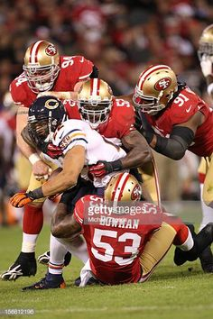 faded00a312 NaVorro Bowman and Patrick Willis of the San Francisco 49ers tackle Matt  Forte of the Chicago