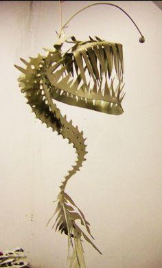 Steel deep sea fish skeleton, Chris Hausbeck 2010