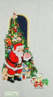 Christmas Toys Needlepoint Christmas Stocking by BABarkerGifts ...