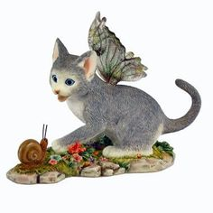 Shadow Fairy Cat Figurine - Faerie Glen Fairy Cat Collection