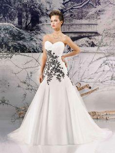 a lines white and black dresses   ... line-White-And-Black-Corset-Bandage-Wedding-Dress-MPW-005.jpg