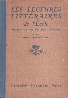 Manuels anciens Lectures, Paris, Livres, Montmartre Paris, Paris France