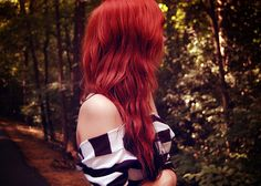 Red hair.
